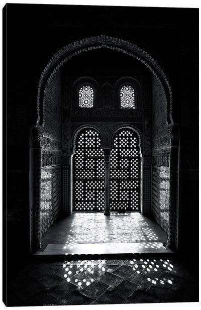 Arabesque Window, Alhambra, Spain Canvas Art Print