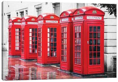 British Red Phone Boxes, London Canvas Art Print