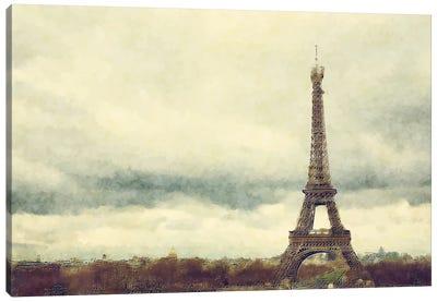 Eiffel Tower Watercolour Canvas Art Print