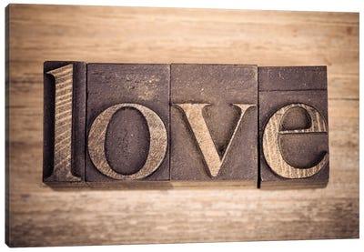 Printing Blocks Spelling Love Canvas Art Print
