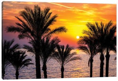 Colourful Sunrise Over The Red Sea, Egypt Canvas Art Print