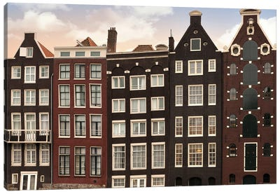 Amsterdam Architecture At Twilight Canvas Art Print