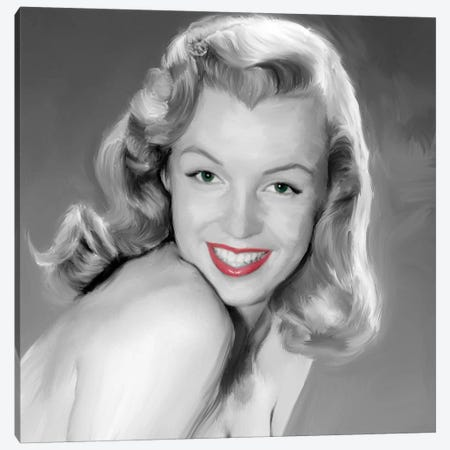 Young Marilyn Canvas Print #JRY17} by Jerry Michaels Canvas Print