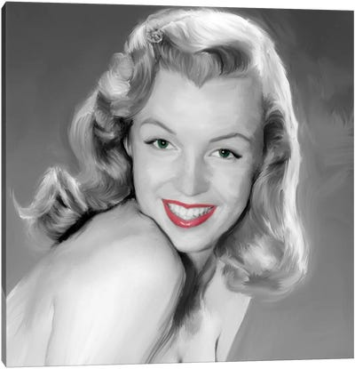 Young Marilyn Canvas Art Print