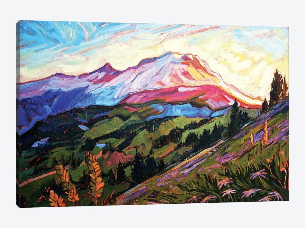 Mt Rainier by Jessica Johnson 1-piece Canvas Art Print