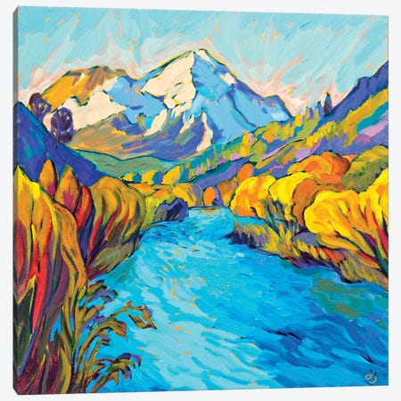 River Mountain Canvas Print #JSA18} by Jessica Johnson Canvas Art Print