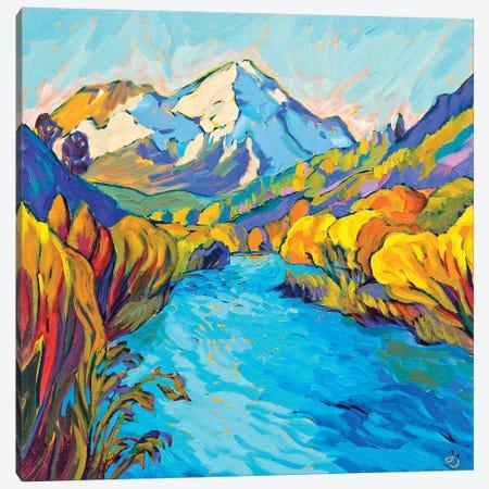 River Mountain Canvas Print #JSA18} by Jessica Johnson Canvas Art Print