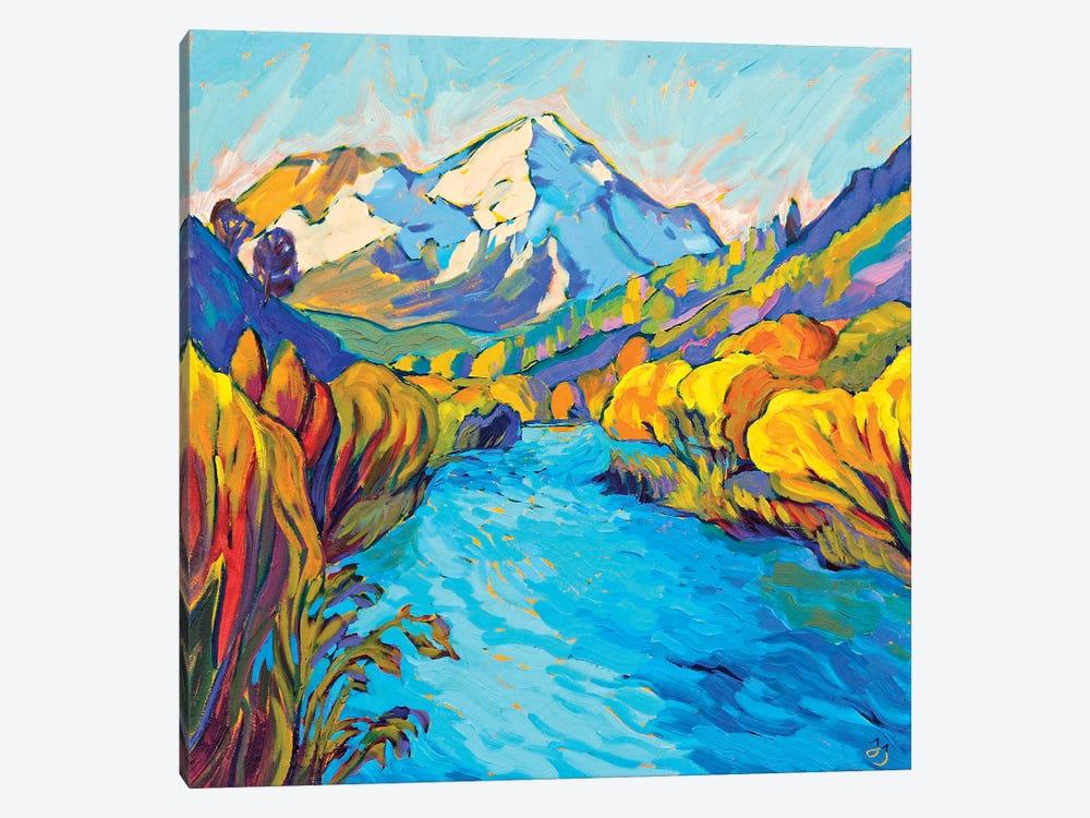 River Mountain by Jessica Johnson 1-piece Art Print