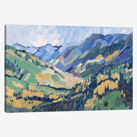 Gold In The Mountains Canvas Print #JSA8} by Jessica Johnson Canvas Print