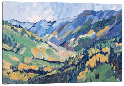 Gold In The Mountains Canvas Art Print