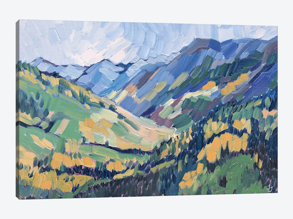 Gold In The Mountains by Jessica Johnson 1-piece Canvas Artwork