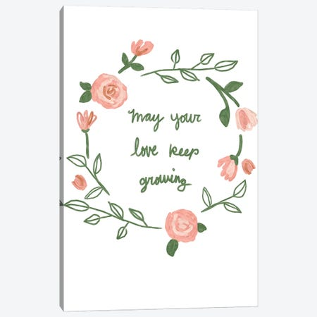 Love Keep Growing Canvas Print #JSB19} by Jessica Bruggink Canvas Wall Art