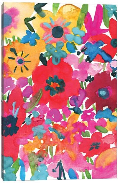 Vibrant Floral I Canvas Art Print