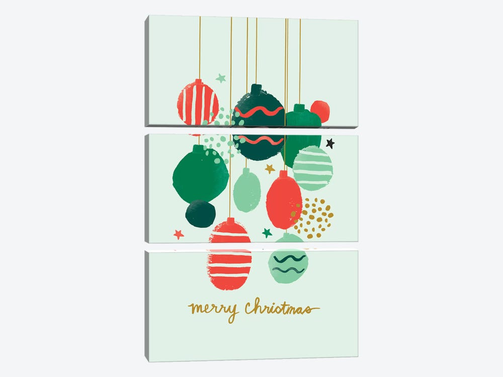 Abstract Christmas II by Jessica Bruggink 3-piece Art Print