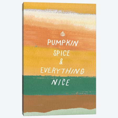 Pumpkin Spice Canvas Print #JSB3} by Jessica Bruggink Canvas Wall Art
