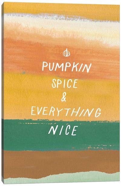 Pumpkin Spice Canvas Art Print