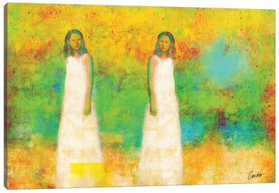 The Tow Ladies Canvas Art Print