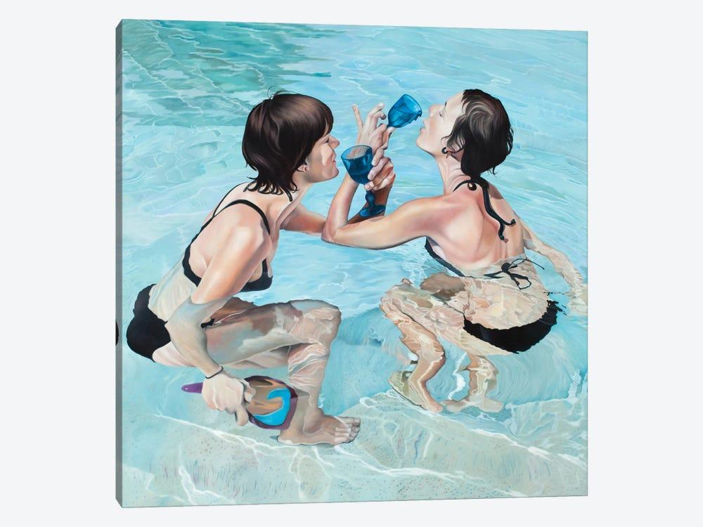 Cup Poker by Josep Moncada 1-piece Canvas Art Print