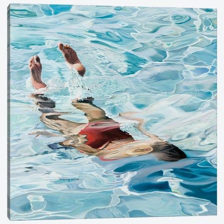 Dive The Blues Of The Sea Canvas Print #JSD12} by Josep Moncada Canvas Artwork