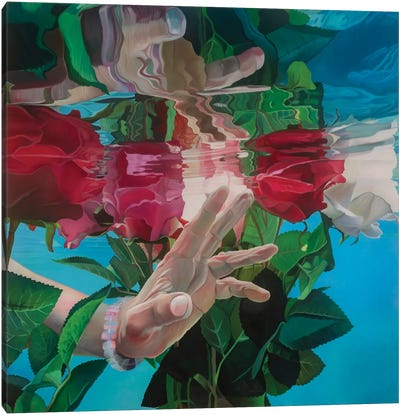 Rain In Cala Morrell Canvas Art Print