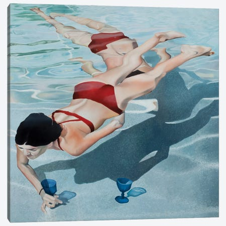 Mermaids Canvas Print #JSD28} by Josep Moncada Canvas Print