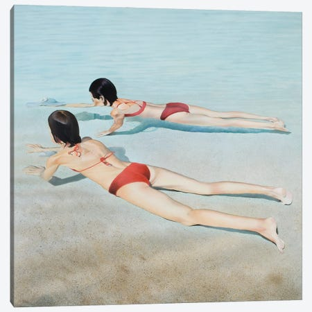 The Mirror Of My Reality Canvas Print #JSD41} by Josep Moncada Art Print