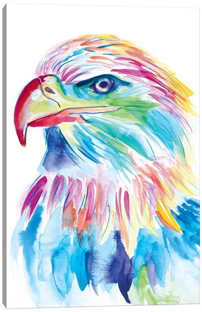Watercolor Bald Eagle Canvas Art Print