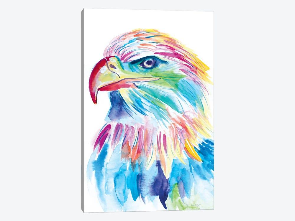 Watercolor Bald Eagle by Jennifer Seeley 1-piece Canvas Artwork