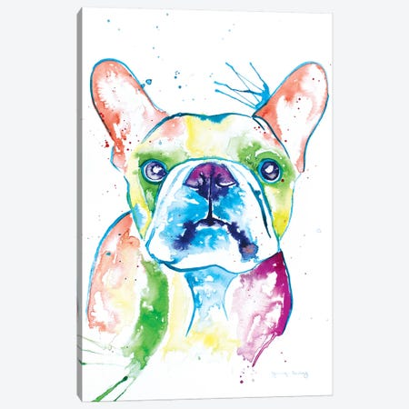 Watercolor Frenchie I Canvas Print #JSE17} by Jennifer Seeley Canvas Artwork