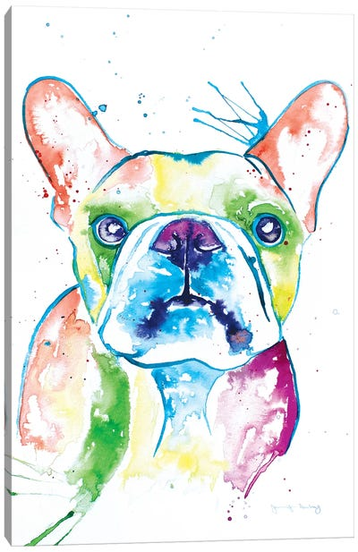 Watercolor Frenchie I Canvas Art Print