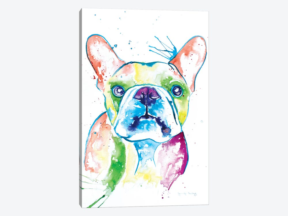 Watercolor Frenchie I by Jennifer Seeley 1-piece Canvas Art Print