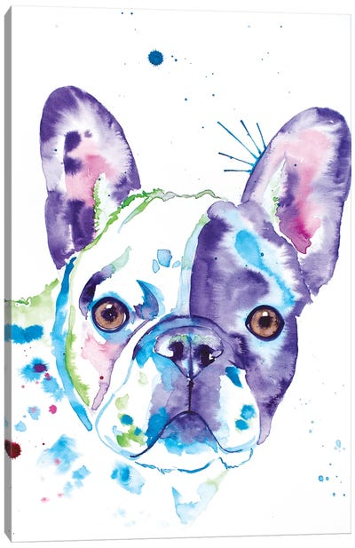 Watercolor Frenchie II Canvas Art Print