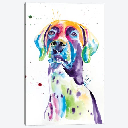 Watercolor German Shorthaired Pointer Canvas Print #JSE19} by Jennifer Seeley Canvas Art Print