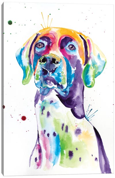 Watercolor German Shorthaired Pointer Canvas Art Print
