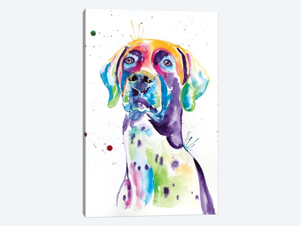 Watercolor German Shorthaired Pointer by Jennifer Seeley 1-piece Canvas Art Print