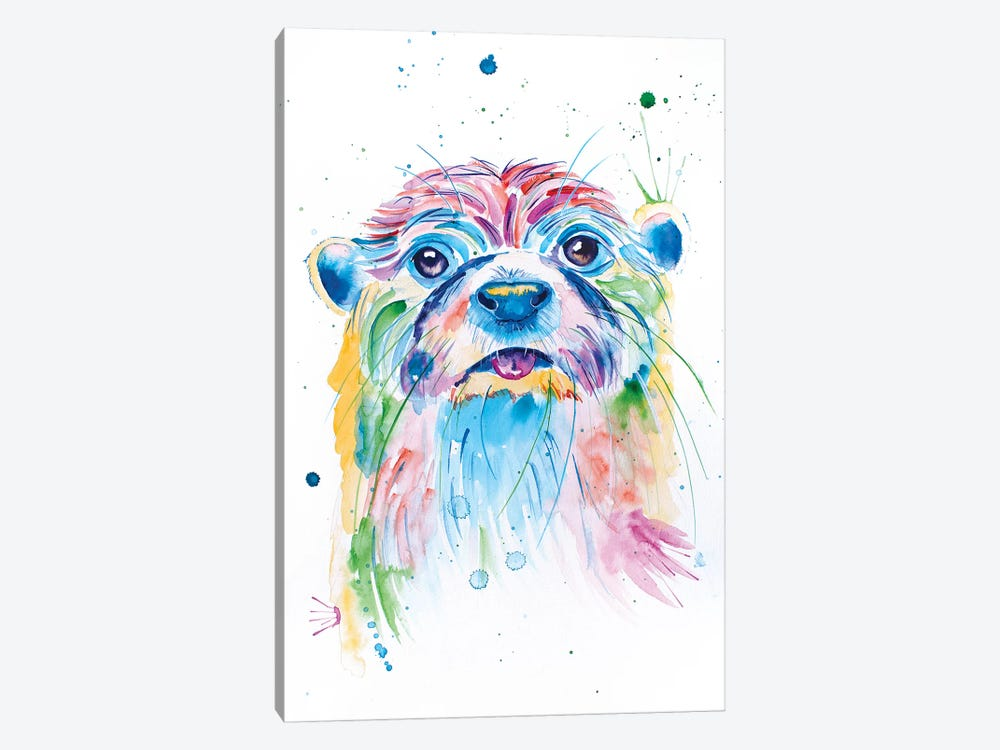 Watercolor Jewel Toned Otter by Jennifer Seeley 1-piece Canvas Wall Art