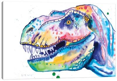Watercolor T-Rex Canvas Art Print