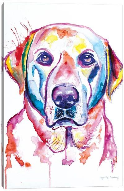 Watercolor Yellow Lab Canvas Art Print