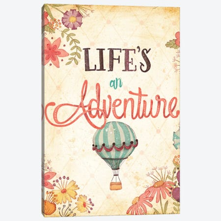 Enjoy Life's Adventures I Canvas Print #JSF10} by Josefina Canvas Artwork