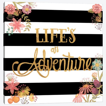 Life's an Adventure Canvas Print #JSF17} by Josefina Canvas Art Print