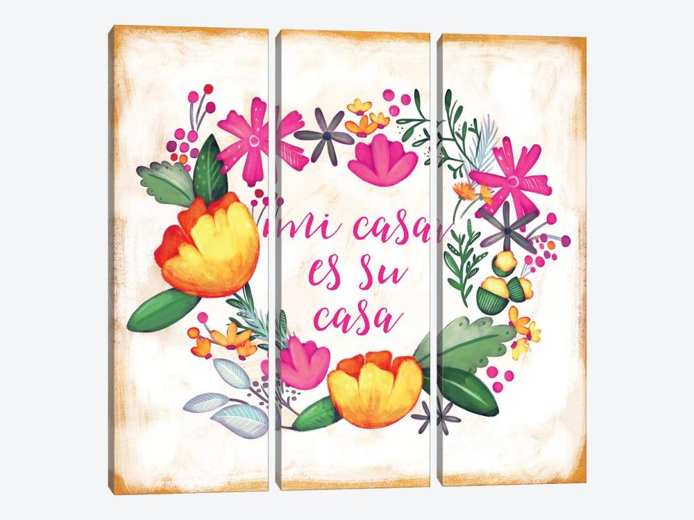 Mi Casa Es Su Casa by Josefina 3-piece Canvas Art Print