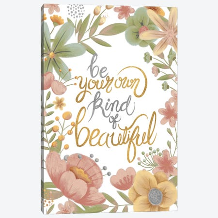 You're Beautiful (Pastels) Canvas Print #JSF27} by Josefina Canvas Art