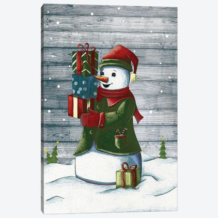 Christmas Snowmen II Canvas Print #JSF29} by Josefina Canvas Art Print