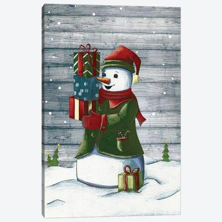 Christmas Snowmen II Canvas Print #JSF29} by Josefina Canvas Art Print