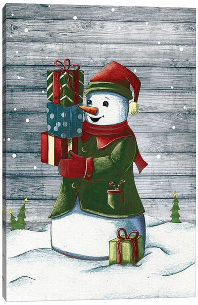 Christmas Snowmen II Canvas Art Print