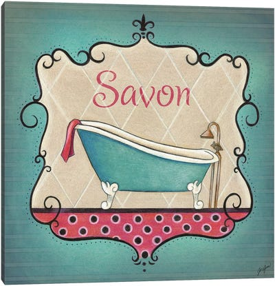 Bain and Savon II Canvas Art Print