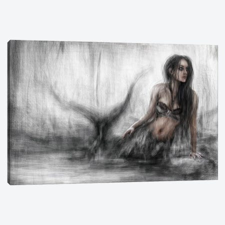 Mermaid Canvas Print #JSG12} by Justin Gedak Art Print
