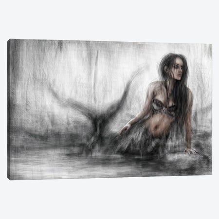 Mermaid Canvas Print #JSG12} by Justin Gedak Art Print