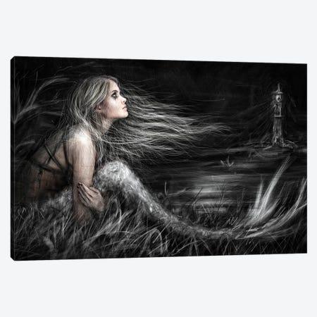 Mermaid At Midnight Canvas Print #JSG13} by Justin Gedak Canvas Art Print