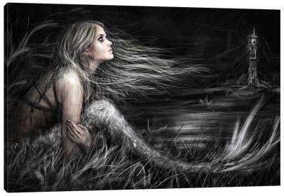 Mermaid At Midnight Canvas Art Print
